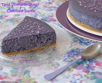 Tarta Violeta de Queso y Chocolate Blanco