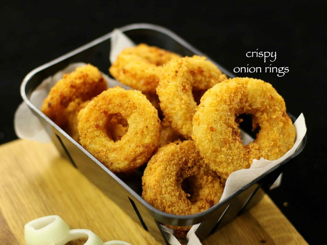 onion rings recipe | cheese stuffed onion rings recipe