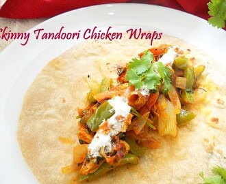 Skinny Tandoori Chicken Wraps...step by step.