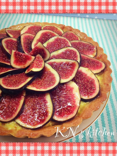 無花果南瓜吉士杏仁塔 Fig Almond Tart with Pumpkin Custard