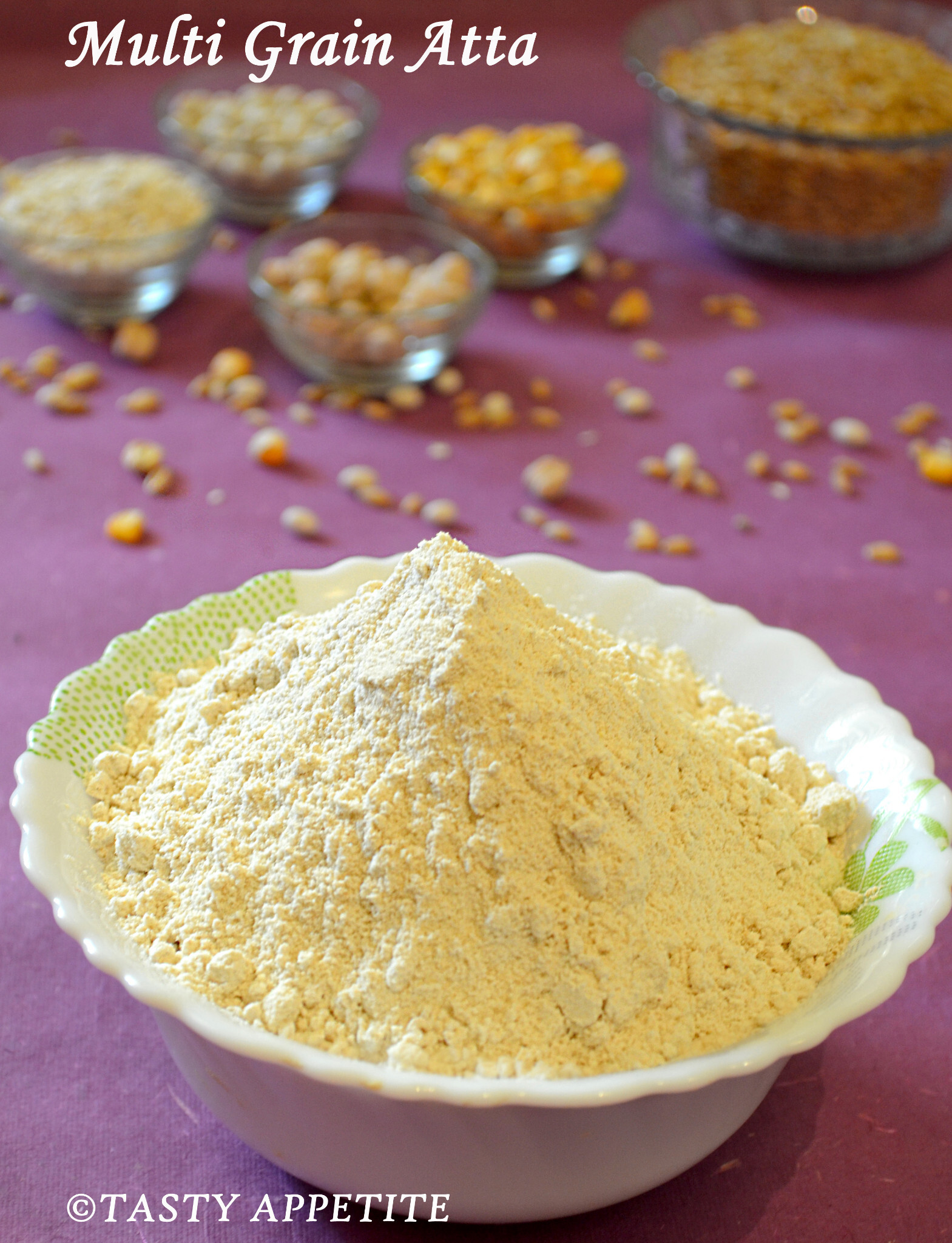 How to make Multigrain Atta at home ? Homemade Chapathi Flour:
