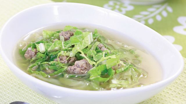 Cabbage Soup with Ground Pork Recipe