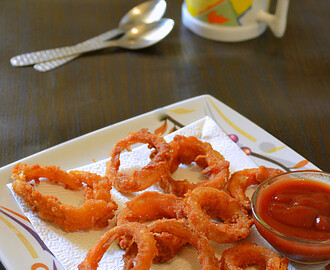 How to make Crispy Onion Rings / Homemade Onion Rings / Step by Step / Easy Snacks Recipes :