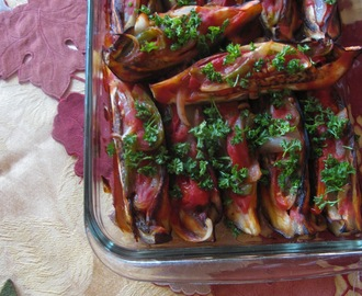 Stuffed Eggplant Spears