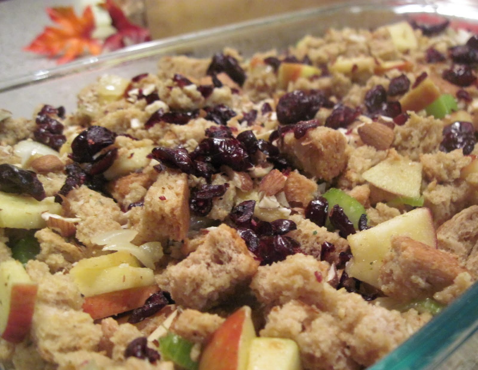 Homemade Cranberry and Apple Stuffing