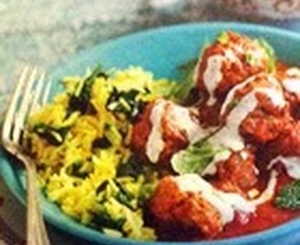 Slimming World - Kofta Curry with Turmeric Rice