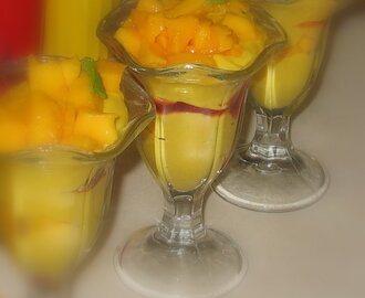 Mango Pudding and Berry Parfait