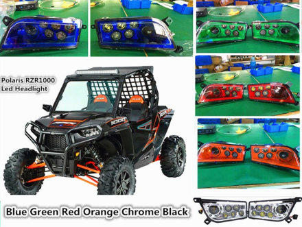 Polaris RZR 1000 accessories Led Headlight Kit Headlamp For ATV UTV RZR 900 / RZR XP 4 TURBO / Polaris 1000 / RZR XP 4 1000 Blue
