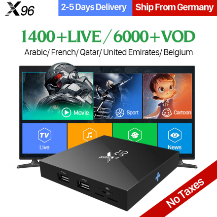 Arabic IPTV Box X96 Android 6.0 TV Box 2GB S905X IPTV 1 Year QHDTV IPTV Europe Arabic French IPTV Box PK X92 TV Box