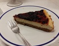 Cheesecake com geleia de Cerejas