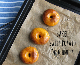 Baked Sweet Potato Doughnuts