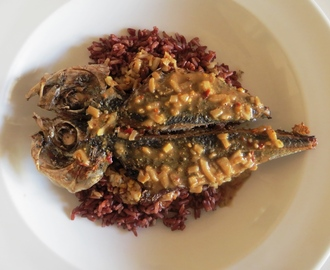 Horse Mackerel and red rice