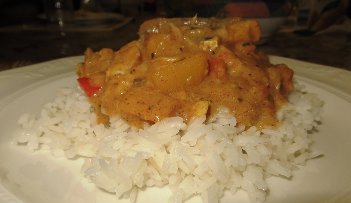 Fish and mango curry