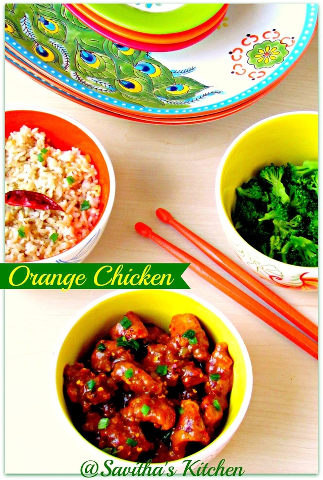 Orange Chicken - Flavourfull chicken from Chinese Cuisine / With step wise pictures