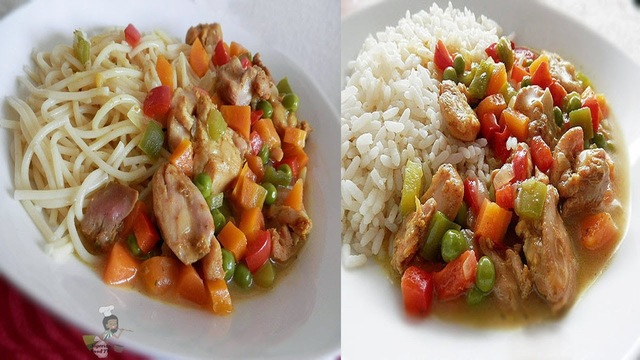Coconut Curry Sauce (gravy) with Chicken and Vegetables