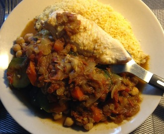 Couscous léger au poulet - Light couscous with chicken