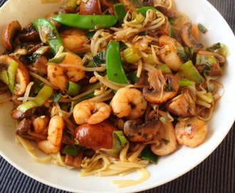 Dinner Recipe: Quick & Easy Noodles with Shrimps