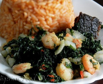 Vegetable & Prawn Stir-Fry For Jollof Rice,Plantains and more