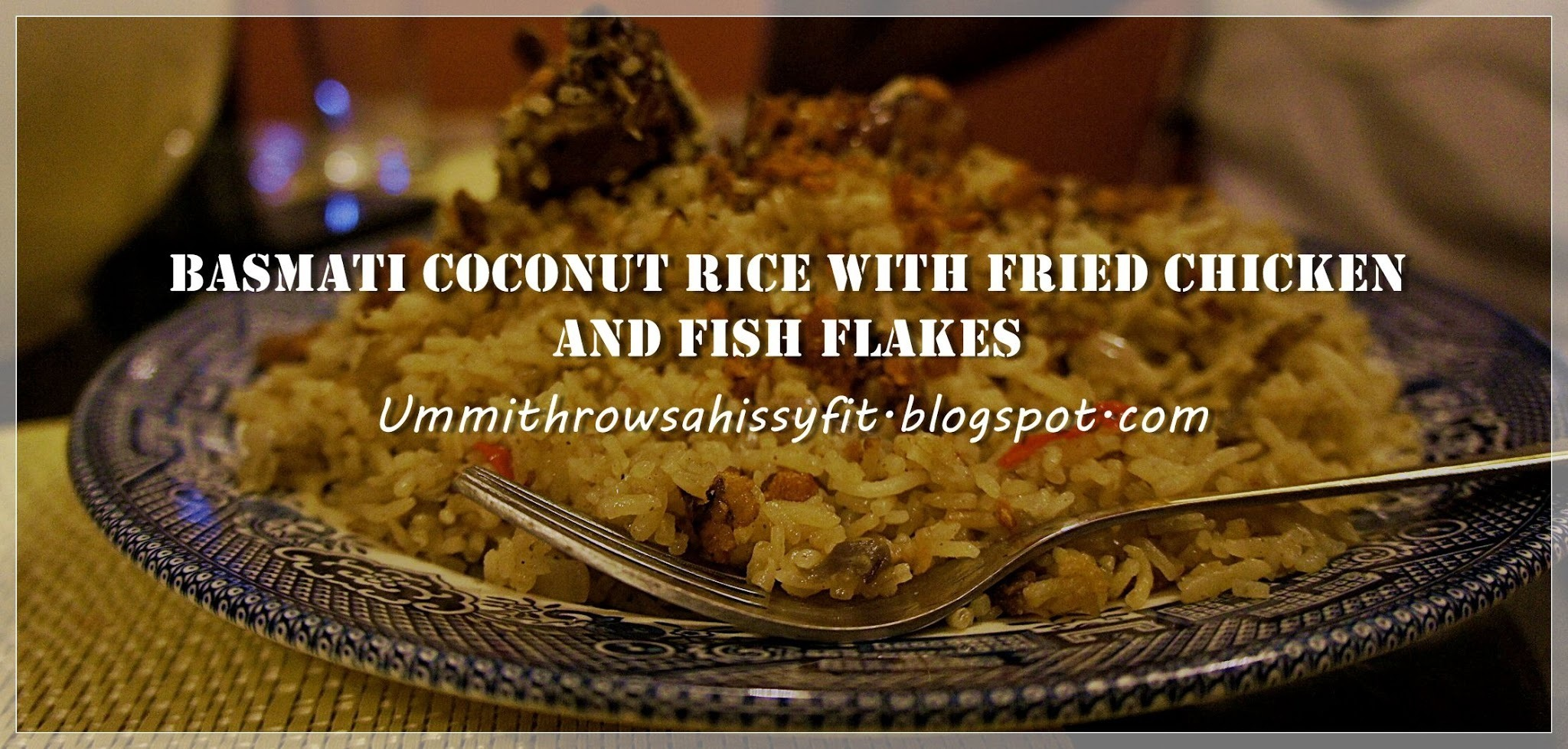 Basmati Coconut Rice with Fried Chicken and Fish Flakes