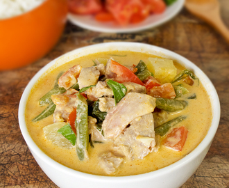 Thai red curry with duck