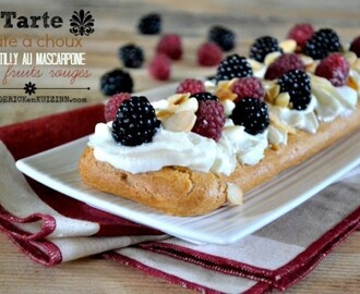 Tarte pate choux – Tarte chantilly mascarpone et fruits rouges