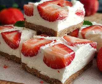 Recept: Suikervrije no bake strawberry cheesecake | Steviala Blog