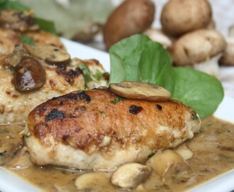 Another Great Night at Chef Hangout - Pan Seared Chicken Breasts in a Creamy Mushroom Sauce