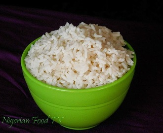 How to Boil ''Non-soggy'' White Rice for Nigerian Stews and Sauces