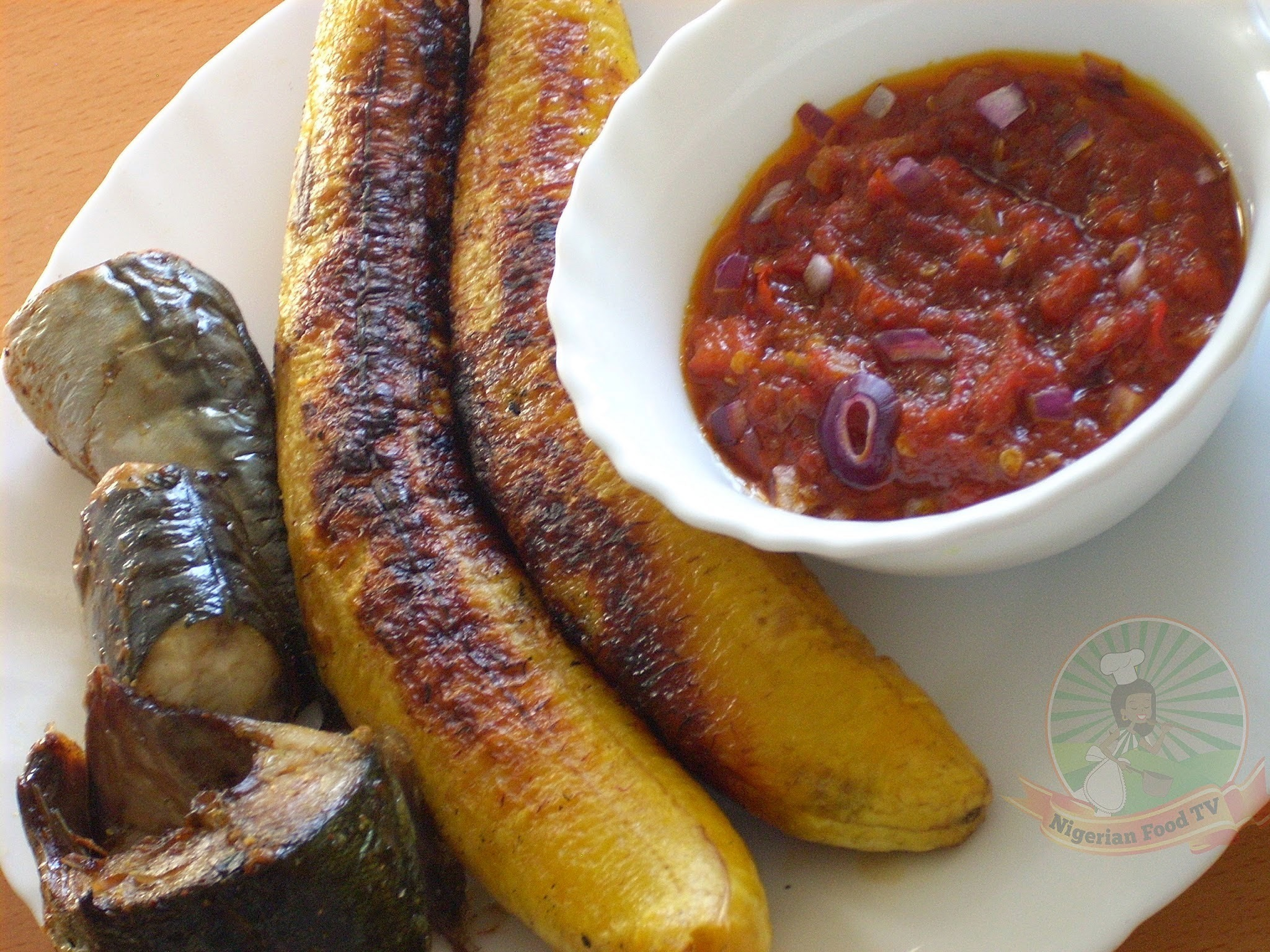 Boli : Nigerian Roasted Plantain (Nigerian Grilled Plantain)