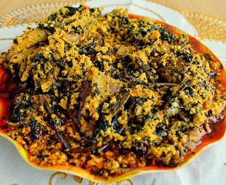 Egusi soup recipe with Bitter leaf