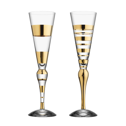 Clown Gold champagneglas 2-pack 20 cl
