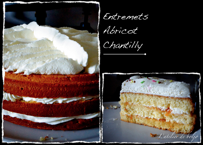 Entremets abricot chantilly et le ratio de la génoise inratable