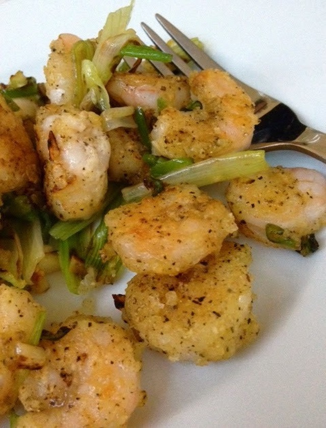 Salt and pepper chilli prawns