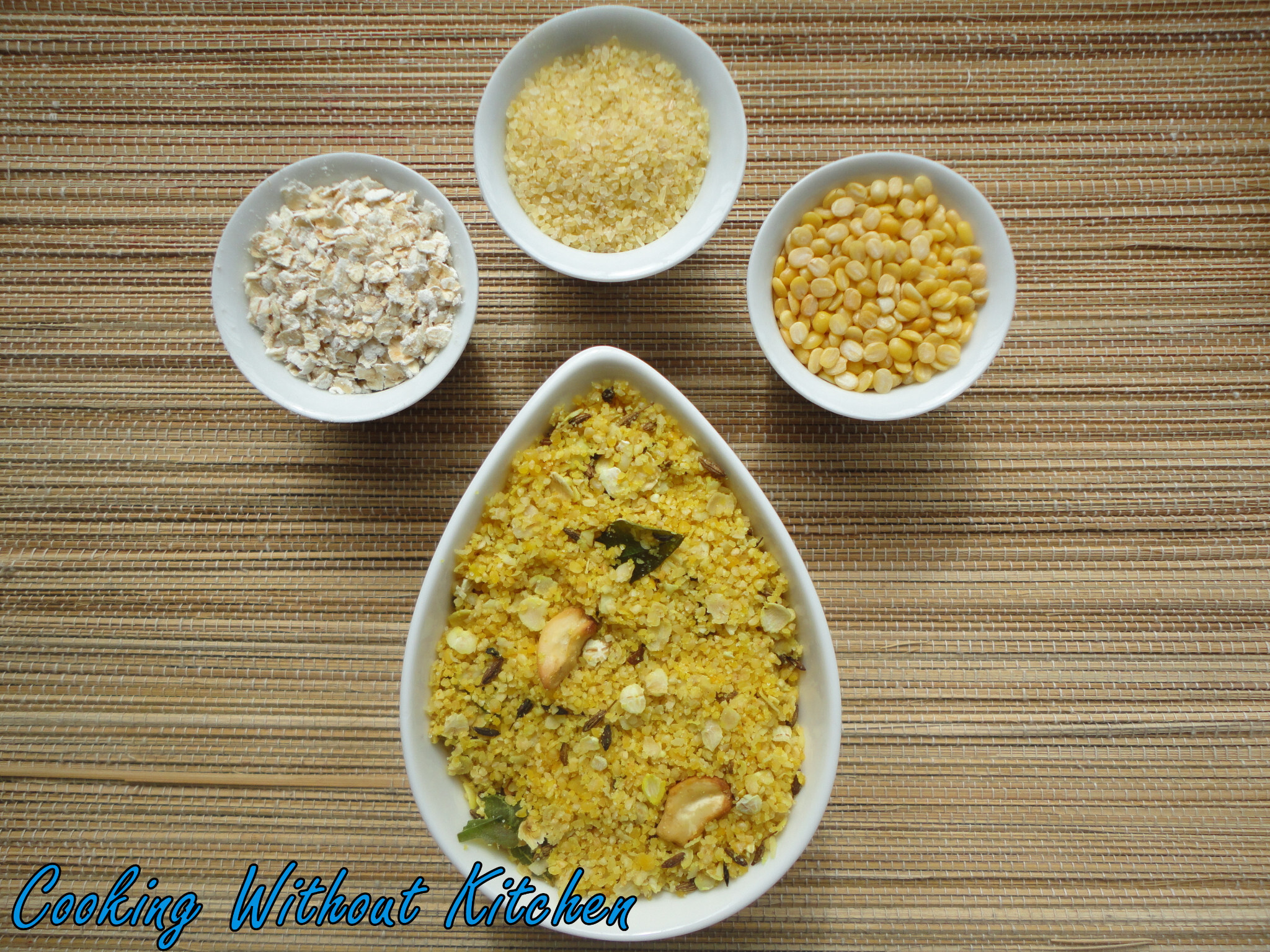 Instant Oat Wheat Moong Porridge Mix