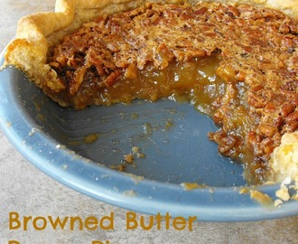 Browned Butter Maple Pecan Pie