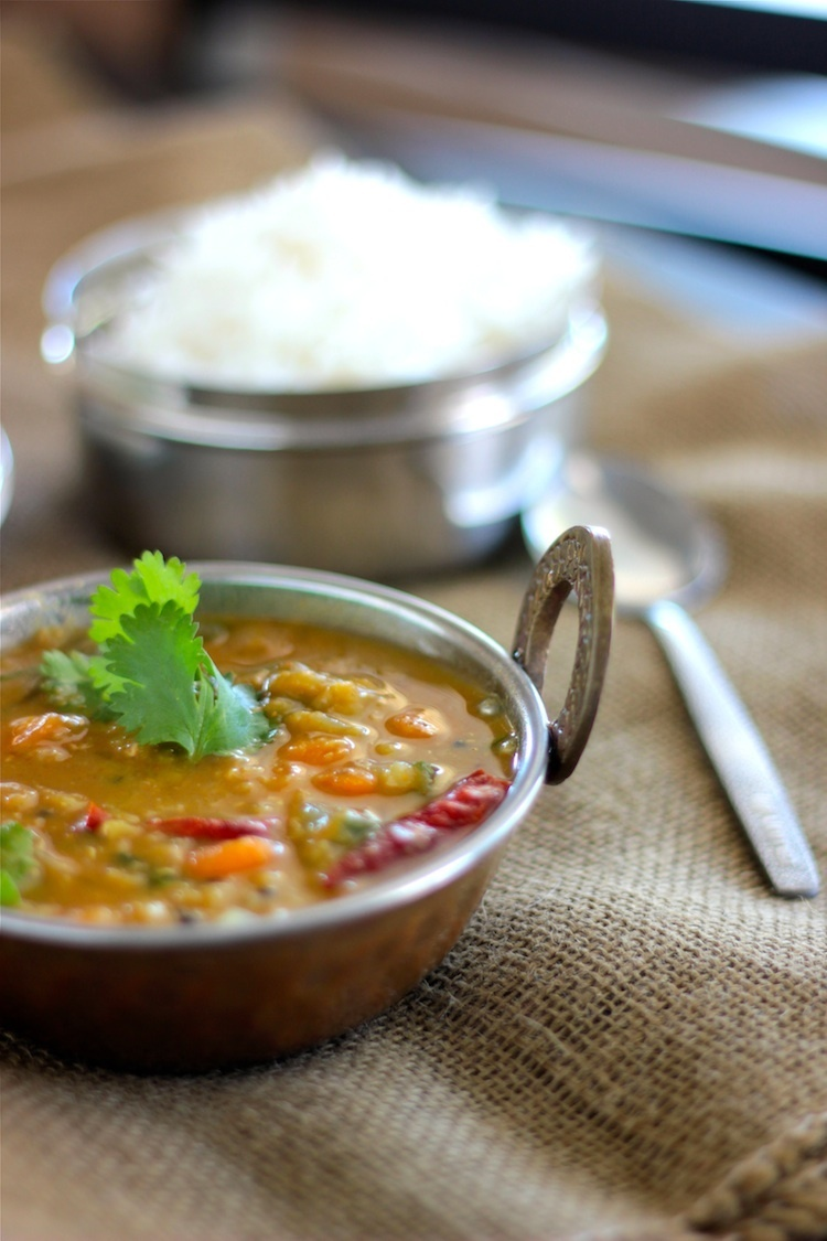 Sambar- South Indian lentil and vegetable stew