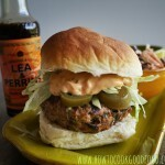 Spicy Pork Burger with Lea & Perrins