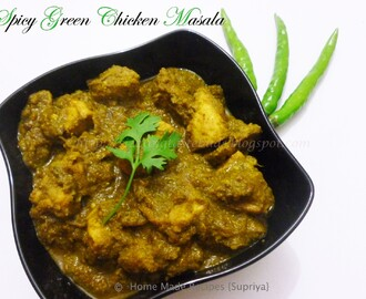 Spicy Green Chicken Masala