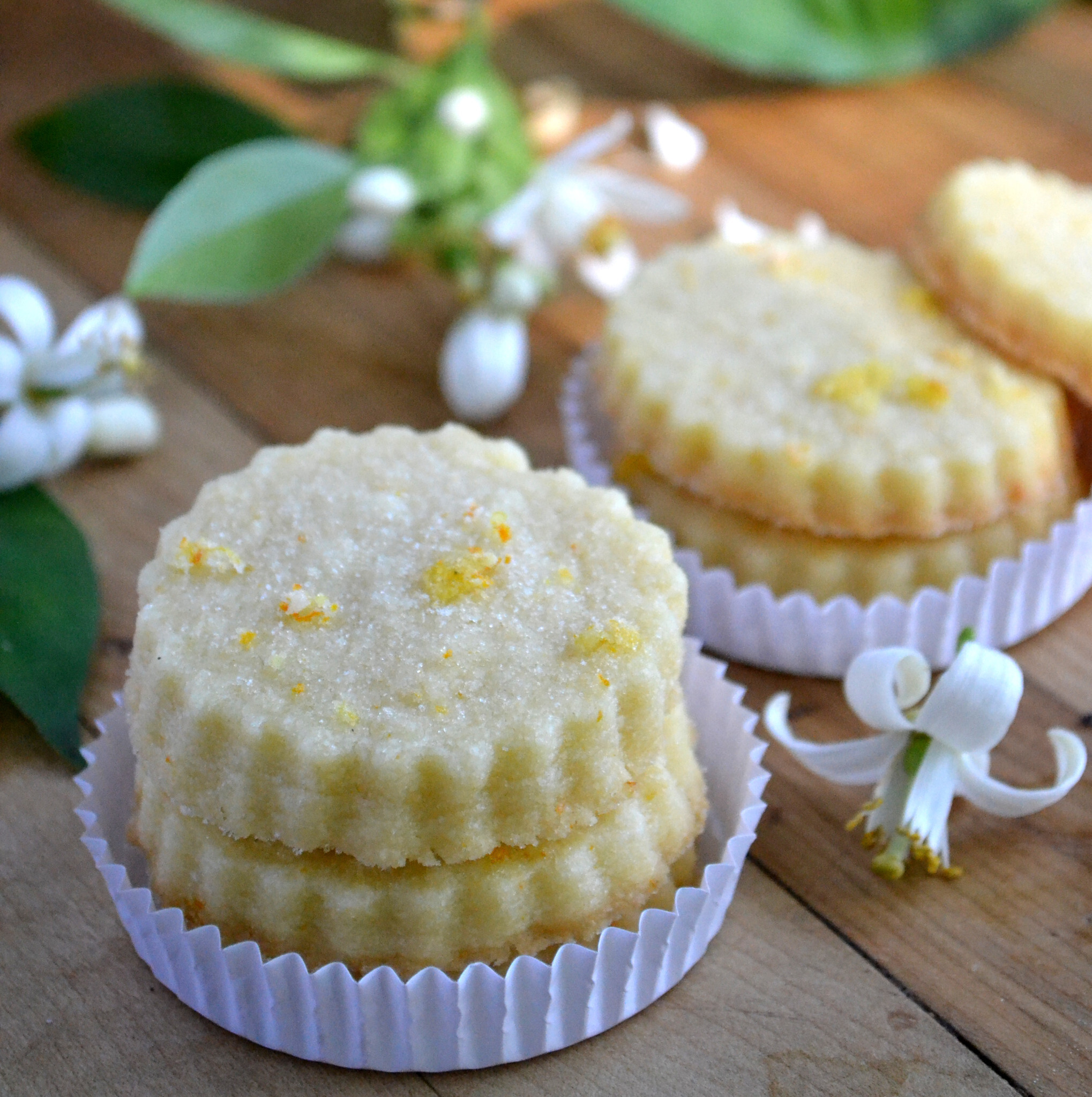 Orange Blossom Shortbread