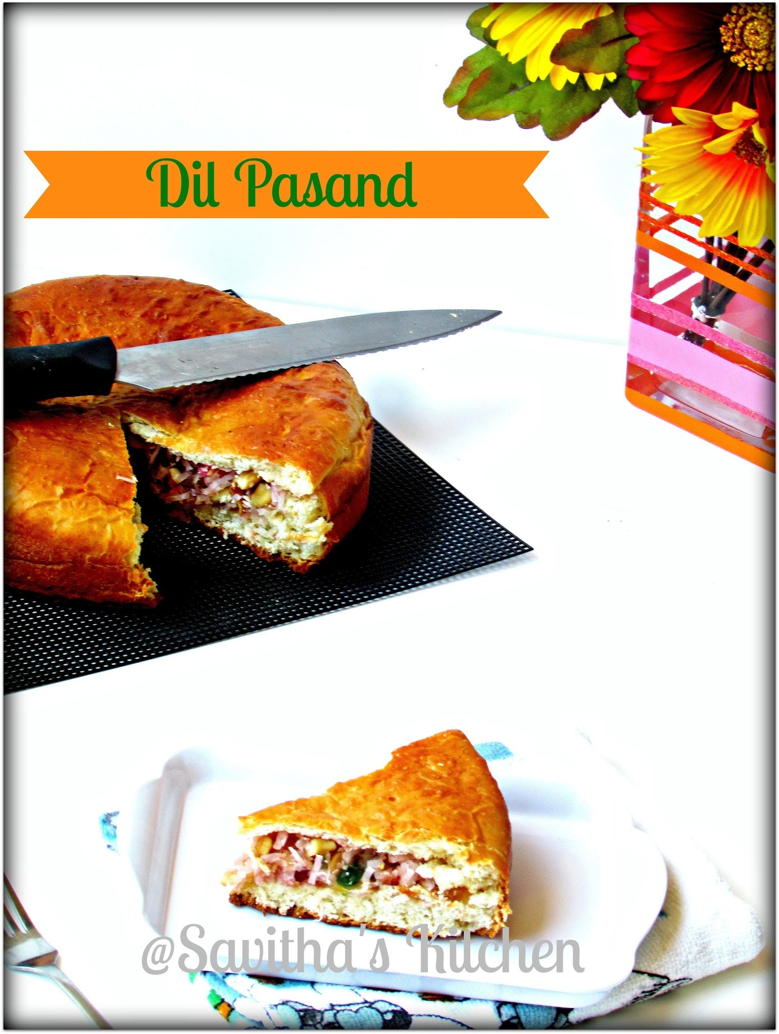 Dil Pasand / Dil Kush - Tangzhong method of making bread / Bakery style / Baking partner challenge # 8