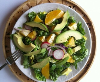 Butter Lettuce with Avocado, Orange and a Lime Vinaigrette