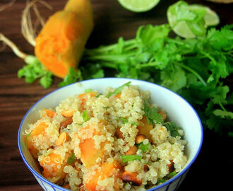 Sweet Potato Quinoa Salad recipe - Healthy salad recipe - Starter recipe - Quinoa recipes