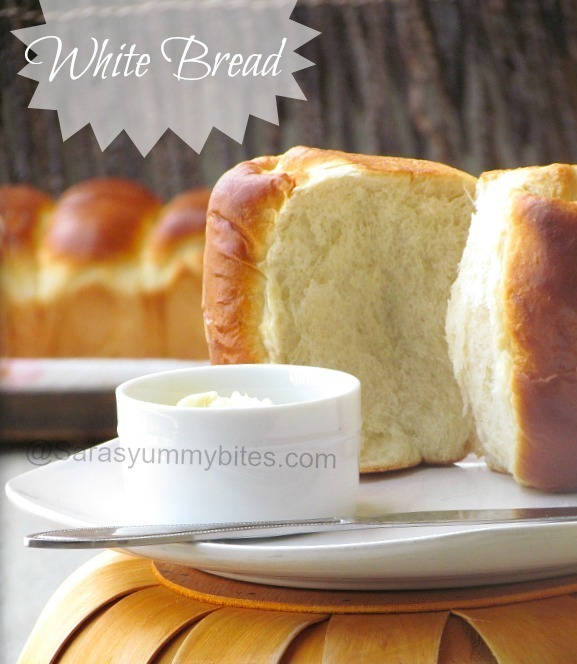 Eggless White Bread ~ Tangzhong Method