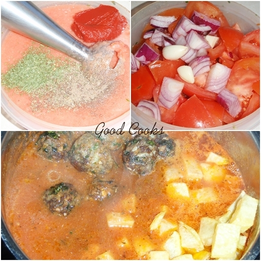 Tagine of Meatballs in Tomato Sauce
