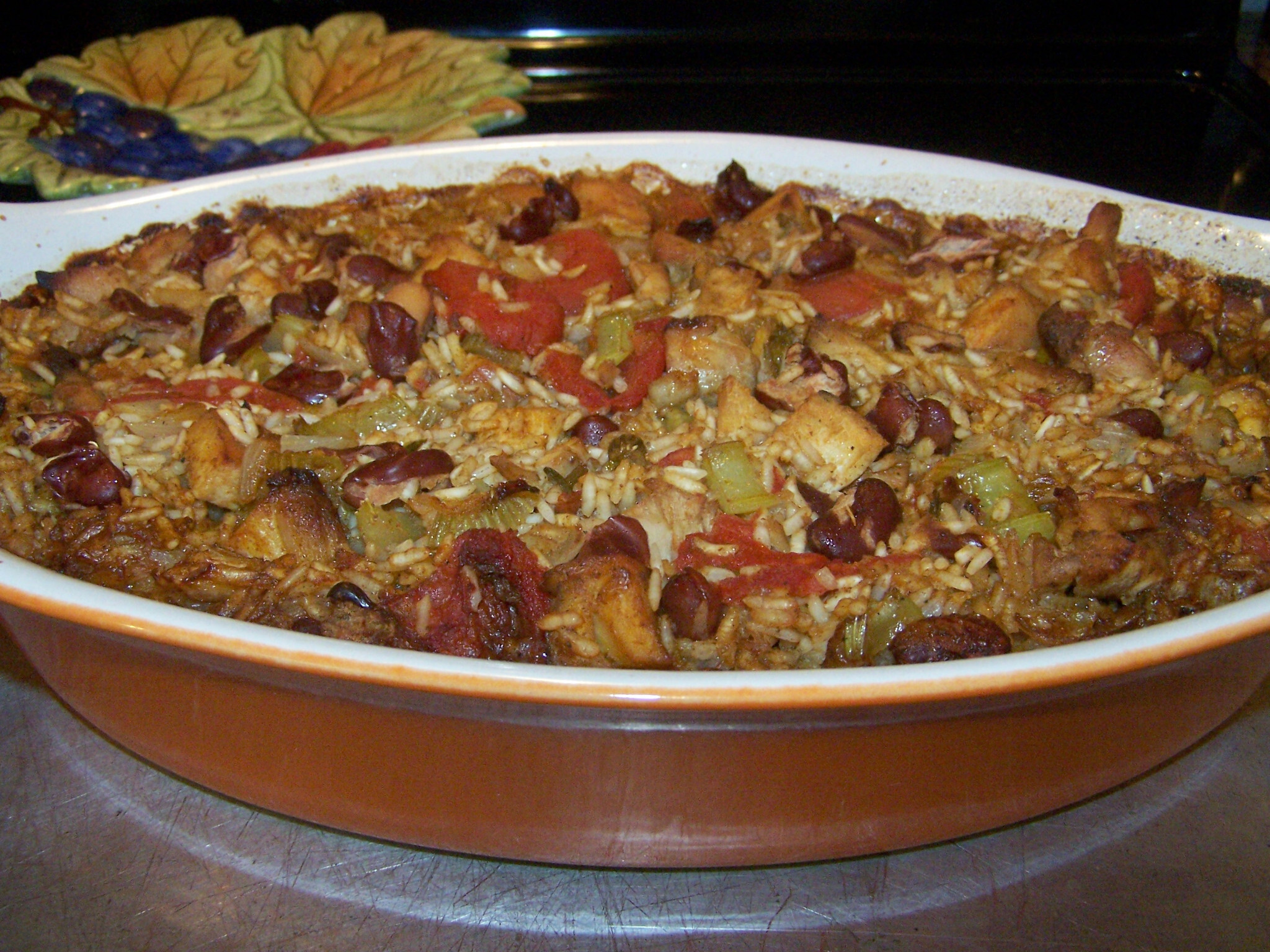 Gluten Free Cajun Chicken Dirty Red Beans and Rice