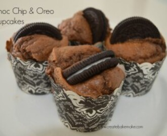 Chocolate Chip & Oreo Cupcakes