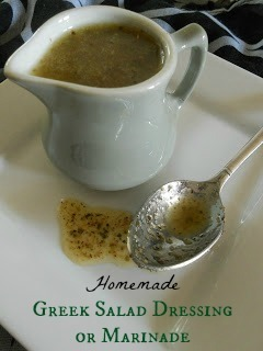 Homemade Greek Salad Dressing or Marinade
