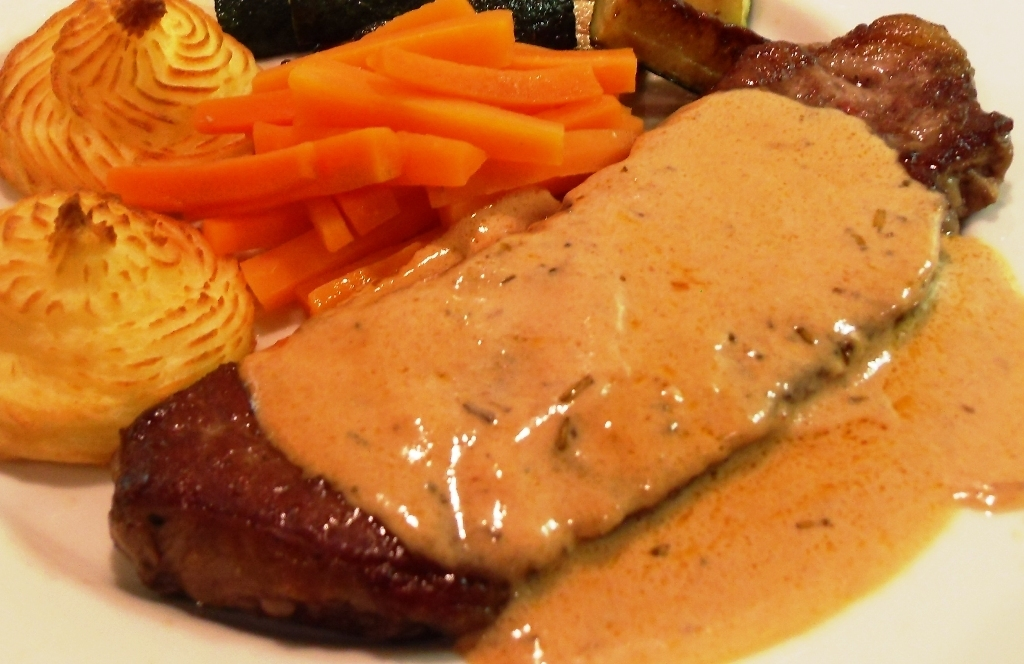Steak with Whisky Sauce + Graig Farm Organics Giveaway