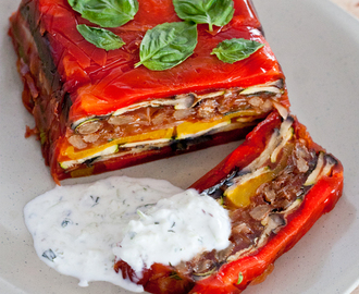 Spring anticipated Grilled Vegetable Terrine
