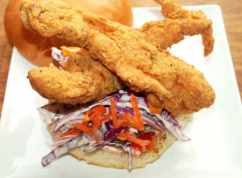 Creole Fried Fish Sandwich with Quick Slaw